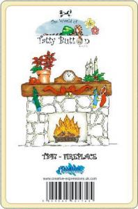 TB47  ~ Tatty Button FIREPLACE ~ stamp