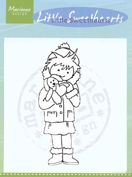 TC0825  LITTLE SWEETHEART ~ HUGS ~  Marianne Designs Clear stamp