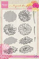 TC0853  Tiny's Gerbera (Layering) ~  Marianne Designs Clear stamp