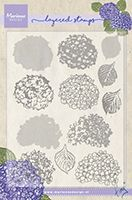 TC0854  Tiny's Hydrangea (Layering) ~  Marianne Designs Clear stamp