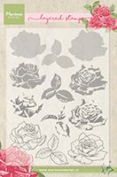 TC0855  Tiny's Roses (Layering) ~  Marianne Designs Clear stamp