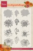 TC0858  Tiny's Chrysanthemum (Layering) ~  Marianne Designs Clear stamp