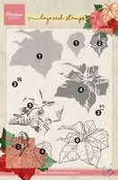 TC0859  Tiny's Poinsettia (Layering) ~  Marianne Designs Clear stamp