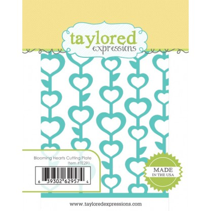 TE291 ~ BLOOMING HEARTS CUTTING PLATE ~ dies by Taylored Expressions