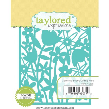TE385 ~ GATHERED BLOOMS CUTTING PLATE ~ dies by Taylored Expressions