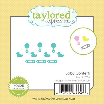 TE535 ~ LITTLE BITS - BABY CONFETTI ~ dies by Taylored Expressions