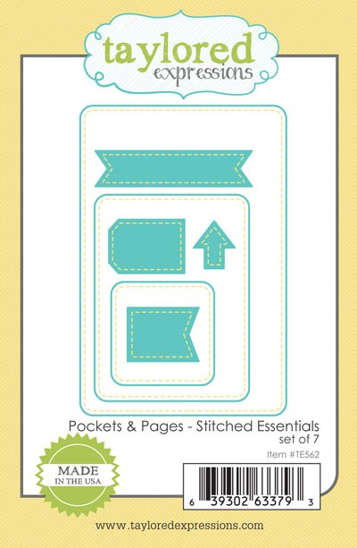 TE562 ~ POCKET & PAGES - STITCHED ESSENTIALS ~ dies by Taylored Expressions