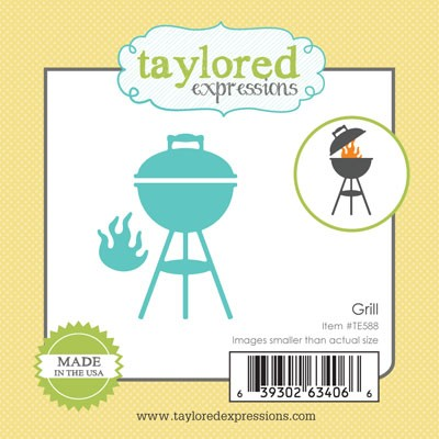 TE588 ~ LITTLE BITS - GRILL ~ dies by Taylored Expressions