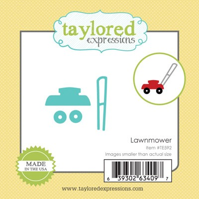 TE592 ~ LITTLE BITS - LAWNMOWER ~ dies by Taylored Expressions