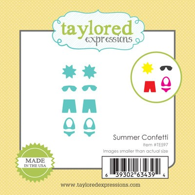 TE597 ~ LITTLE BITS - SUMMER CONFETTI ~ dies by Taylored Expressions