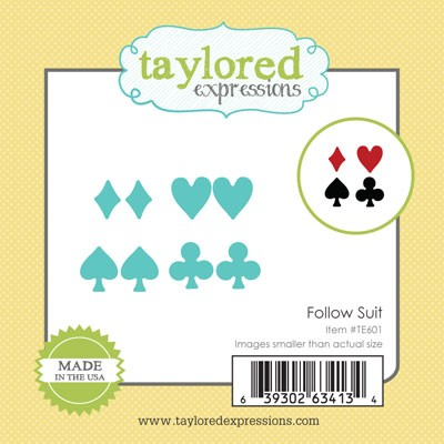 TE601 ~ LITTLE BITS - FOLLOW SUIT ~ dies by Taylored Expressions