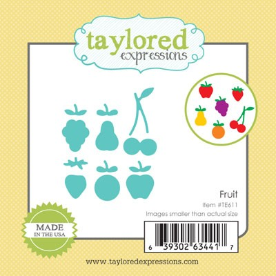 TE611 ~ LITTLE BITS - FRUIT ~ dies by Taylored Expressions