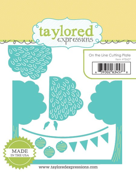 TE627 ~ ON THE LINE CUTTING PLATE ~ dies by Taylored Expressions