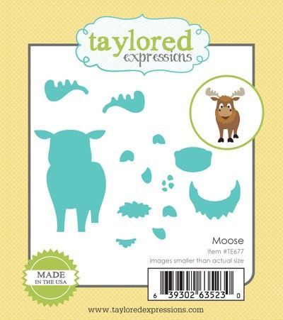 TE677 ~ LITTLE BITS - MOOSE ~ dies by Taylored Expressions