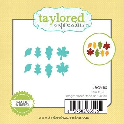 TE681 ~ LITTLE BITS - LEAVES ~ dies by Taylored Expressions