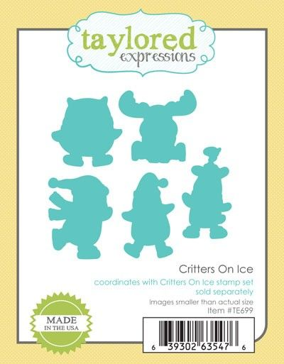 TE699 ~ CRITTERS ON ICE ~ dies by Taylored Expressions