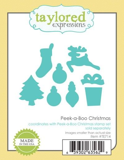 Christmas Expressions.Te714 Peek A Boo Christmas Dies Dies By Taylored Expressions