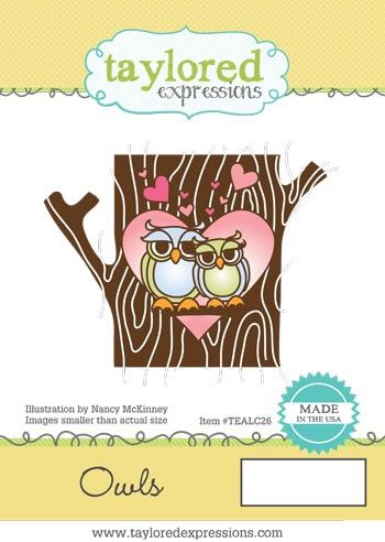 TEALC026 ~ ANIMALS IN LOVE - OWLS ~ Taylored Expressions