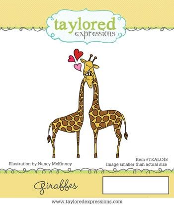 TEALC048 ~ ANIMALS IN LOVE - GIRAFFE ~  Taylored Expressions