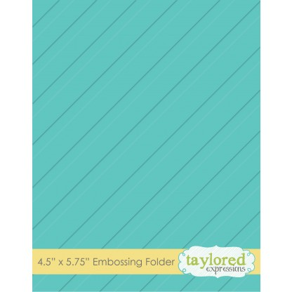 TEEF02 ~ DIAGONAL STRIPE ~ Embossing folder ~ Taylored Expressions