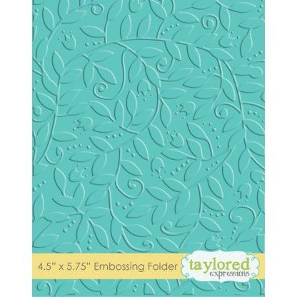 TEEF24 ~ LEAFY VINE ~ Embossing folder ~ Taylored Expressions