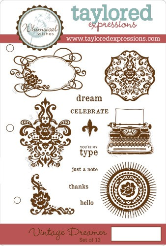 TEFS113 ~ VINTAGE DREAMER ~ set 10 stamps ~ Taylored Expressions