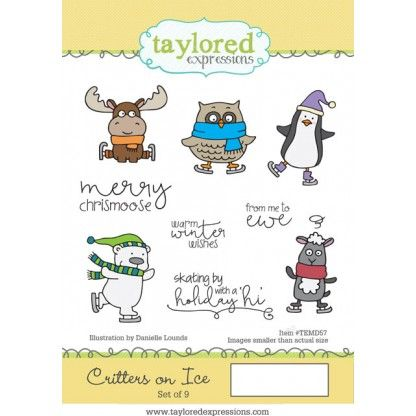 TEMD057~ CRITTERS ON ICE ~ Taylored Expressions