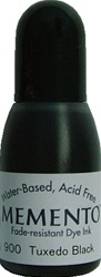 TUXEDO BLACK Re-Inker for Memento ink pad, 15ml bottle