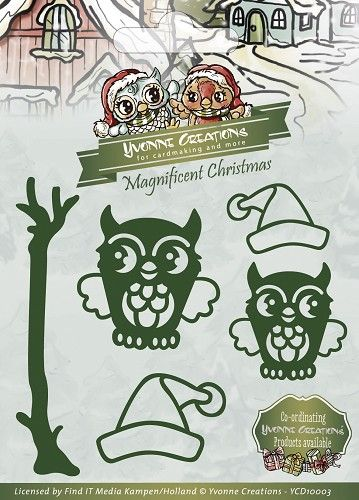 YCD10003 ~ Magnificent Christmas ~ Christmas Owls ~ Yvonne Creations