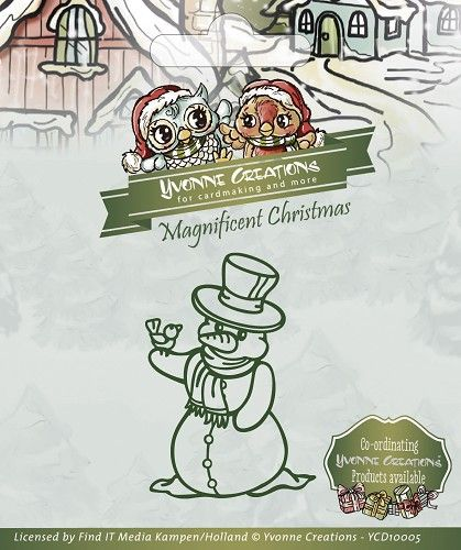 YCD10005 ~ Magnificient Christmas Snowman  ~ Yvonne Creations