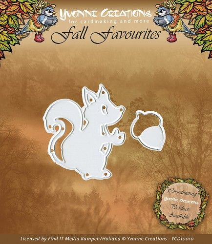 YCD10010 ~ Fall Favourites Squirrel ~ Yvonne Creations