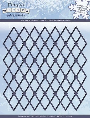 YCD10015 ~ Playful Winter Trellis Frame ~ Yvonne Creations