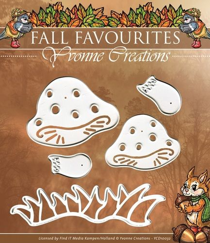 YCD10032 ~ Fall Favourites Toadstools ~ Yvonne Creations