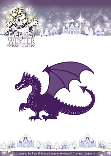 YCD10045 ~ Magical Winter Dragon ~ Yvonne Creations