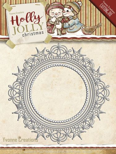 YCD10067 ~ Holly Jolly Christmas ~ Holly Jolly Nesting Frame ~ Yvonne Creations