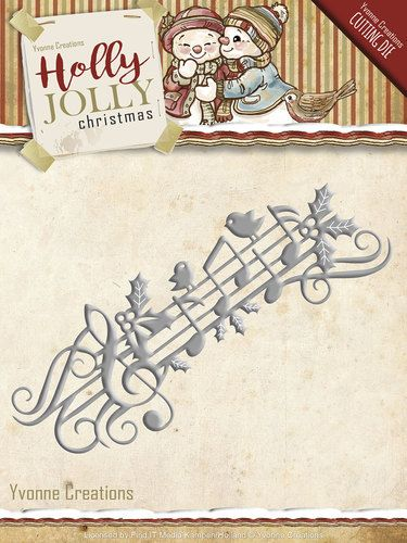 YCD10070 ~ Holly Jolly Christmas ~ Holly Jolly Music Border ~ Yvonne Creations